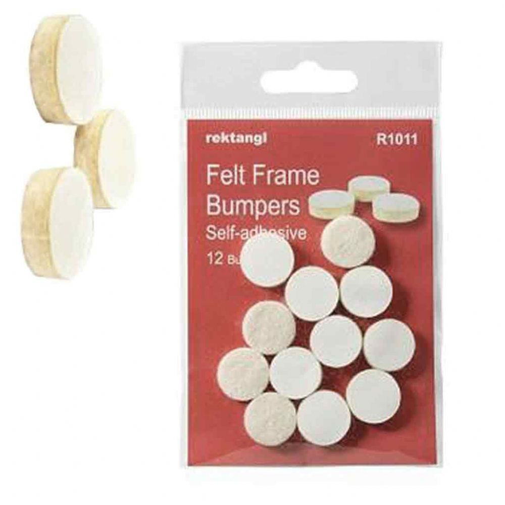 Self Adhesive Felt Pads Sealed Pack of 12